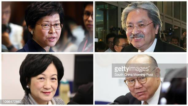 PICTURE Potential candidates for Hong Kong's Chief Executive election in 2017 Chief Secretary Carrie Lam Cheng Yuetngor on July 6 2016 Financial...