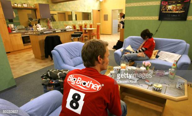 Potential candidates wait in one of the rooms during Big Brother Village Press Tour on February 23 2005 in Cologne Germany
