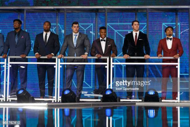 Potential draft picks are introduced prior to the first round of the NFL Draft on April 26, 2018 at AT&T Stadium in Arlington, TX.