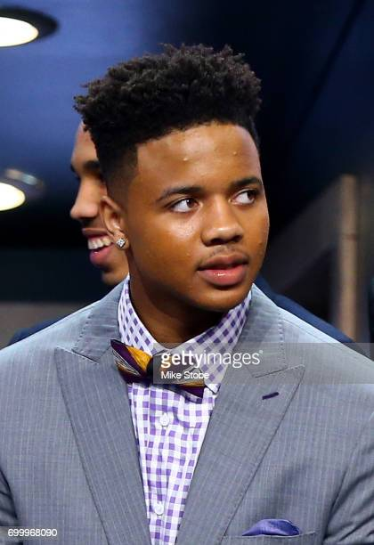 Potential first pick Markelle Fultz looks on before the first round of the 2017 NBA Draft at Barclays Center on June 22 2017 in New York City NOTE TO...