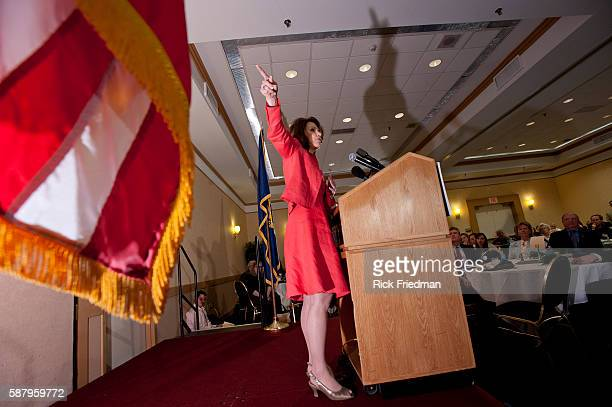 Potential Presidential candidate Congresswoman Michele Bachmann of Minnesota addressing the New Hampshire Republican State Committee in Nahua NH on...