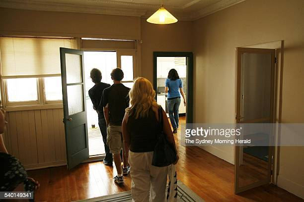 Potential tenants inspect a rental property in Wetherill Street Leichhardt The crowds were let into the house in small groups due to the overwhelming...