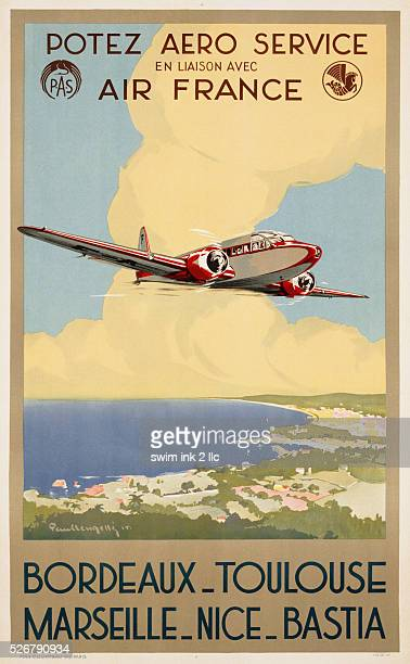 Potez Aero Service Travel Poster