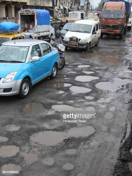 Potholes at Dadar bridge on Tulsi pipe road