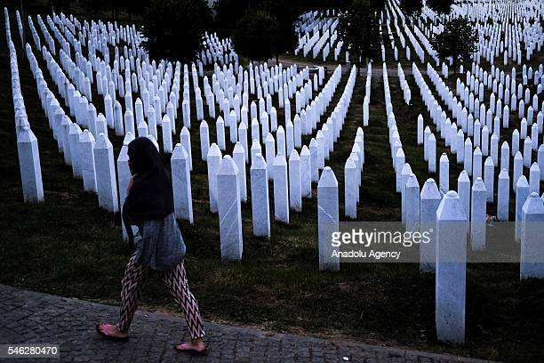 Potocari Memorial Center is seen after funeral ceremony of 127 people who died in the Srebrenica Massacre during in Potocari Bosnia and Herzegovina...