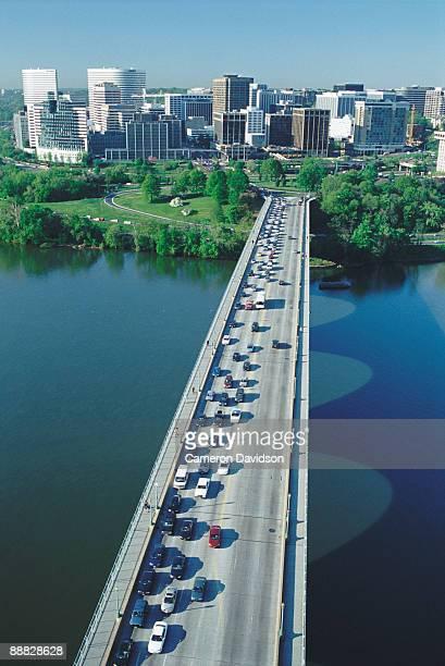 Potomac River and Key Bridge to Rosslyn , Virginia