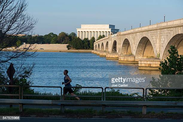 Potomac River and Lincoln Memorial in Washington DC