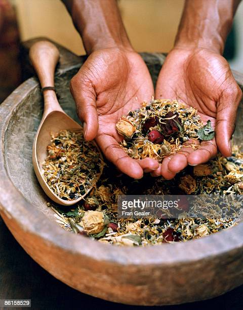 Potpourri in rustic bowl