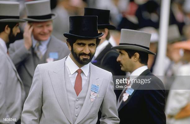 Potrait of owner Sheikh Mohammed Bin Rashid al Maktoum of Dubai during Royal Ascot week at Ascot Racecourse in Ascot England Mandatory Credit Chris...