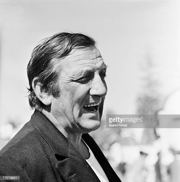 A potrait of the French actor Lino Ventura during the filming of the movie 'Boulevard du rhum' 24th October 1970 Marbella Malaga Spàin