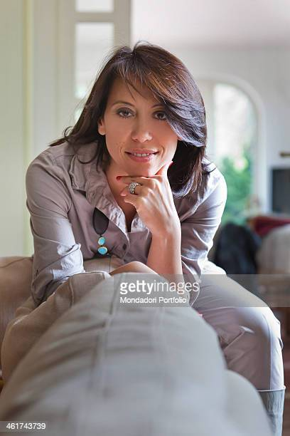 A Potrait of the Italian politician Nunzia De Girolamo The member of the parliament poses wearing the engagement ring a gift of her boyfriend...