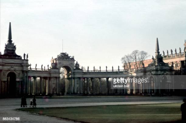 Potsdam colonnades at New Palace in Sanssouci park