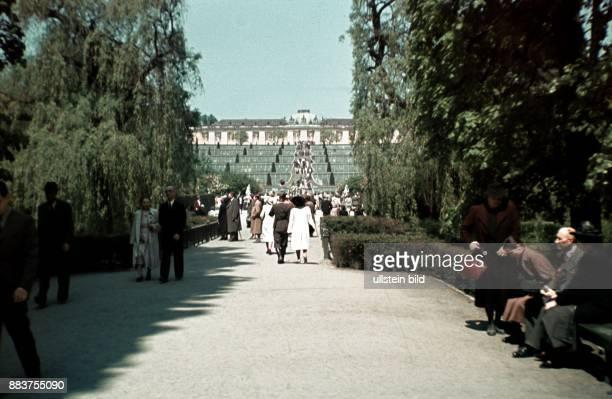 Potsdam Sanssouci Palace in Sanssouci Park