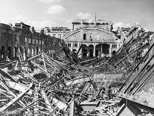 Potsdam Station destroyed as a result of four big raids two by the RAF and two by United States forces at the end of the Second World War
