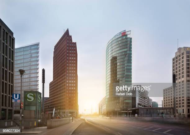 Potsdamer Platz at sunset, Berlin