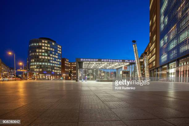 potsdamer platz at sunset in winter - courtyard stock pictures, royalty-free photos & images