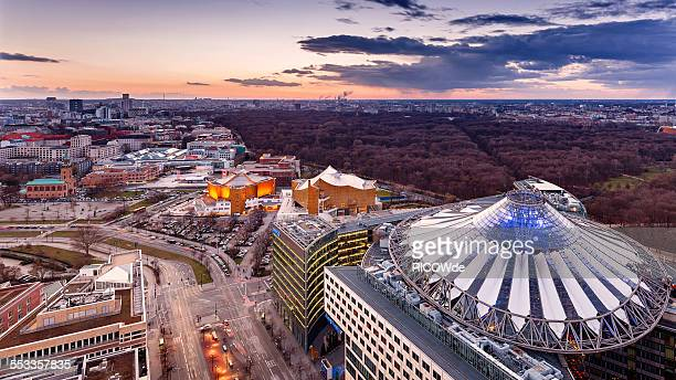 Potsdamer Platz at sunset