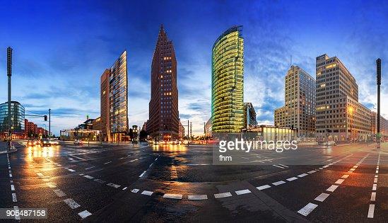 Potsdamer Platz Berlin at blue hour - Skyline Panorama (Berlin, Germany)