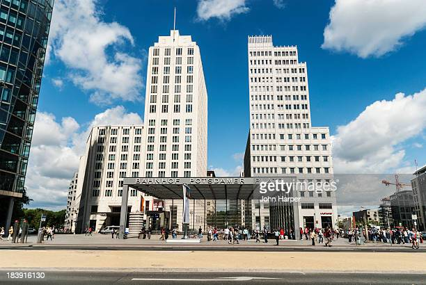 potsdamer platz, berlin. - incidental people stock pictures, royalty-free photos & images