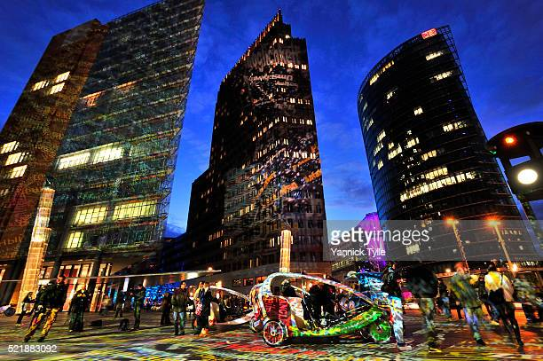 potsdamer platz illuminated during the festival of lights 2012 - united_states_house_of_representatives_elections_in_florida,_2012 stock pictures, royalty-free photos & images
