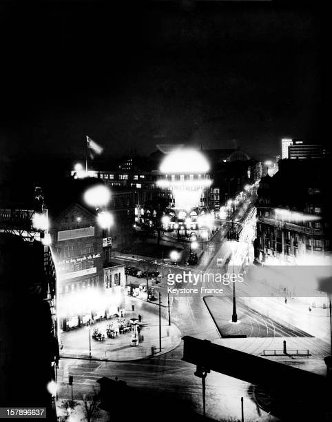 Potsdamer Platz in Berlin by night Thirties