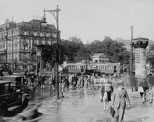 Potsdamer Platz in Berlin Germany with the Palast Hotel on the left circa 1930