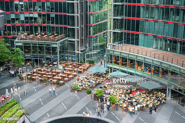 potsdamer platz, sony center - sony center berlin stock pictures, royalty-free photos & images