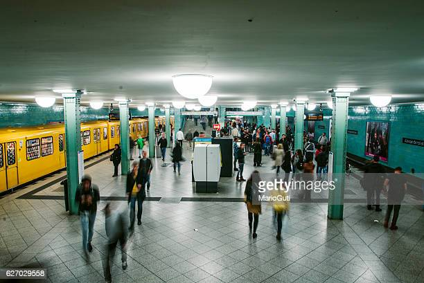 potsdamer platz - u bahn station - letter u stock photos and pictures