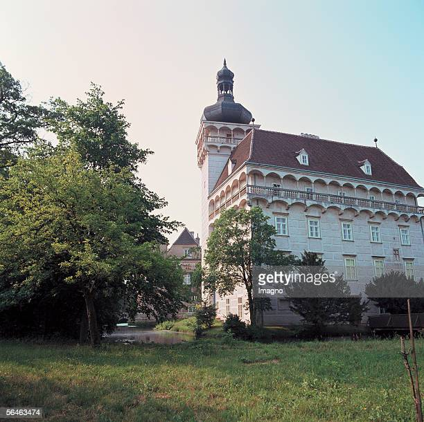 Pottenbrunn Castle near Saint Poelten Lower Austria Renaissance waterside castle on the castle island in the midst of a parkway Photography [Schloss...