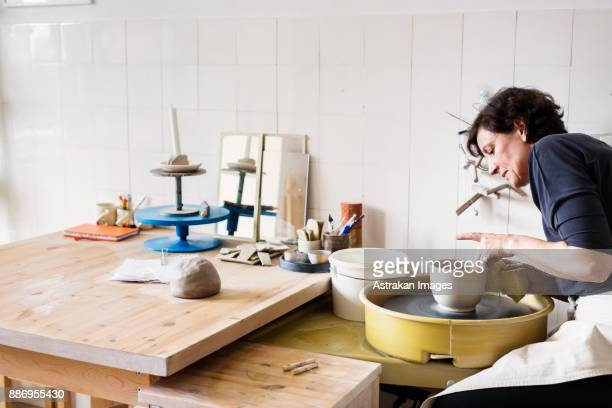 potter at work - potter stock pictures, royalty-free photos & images