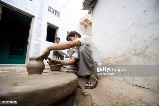 Potter making pot, Rajasthan, India