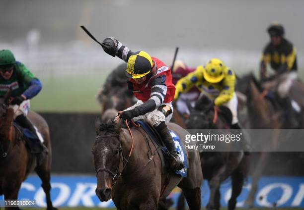 Potters Corner ridden by Jack Tudor on their way to winning the Coral Welsh Grand National Handicap Chase at Chepstow Racecourse on December 27, 2019...