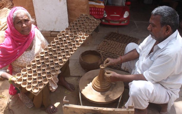 IND: Potters Make Earthen Lamps After Prime Minister Narendra Modiss Appeal To Light Up Lamps On April 5 At 9 PM