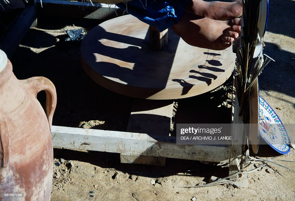 Potters Wheel Making Vases Djerba Pictures Getty Images