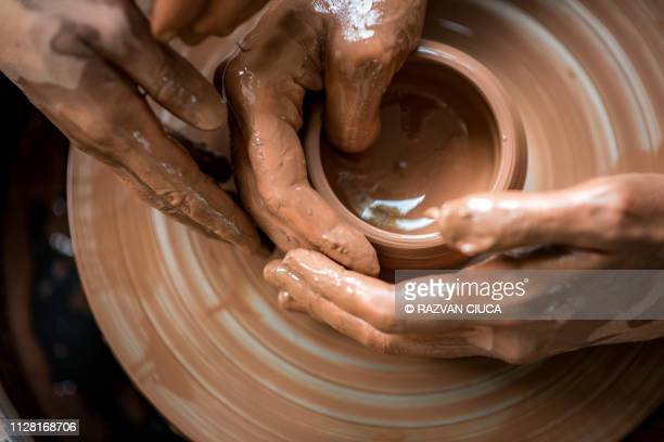 potter's wheel - pottery stock pictures, royalty-free photos & images