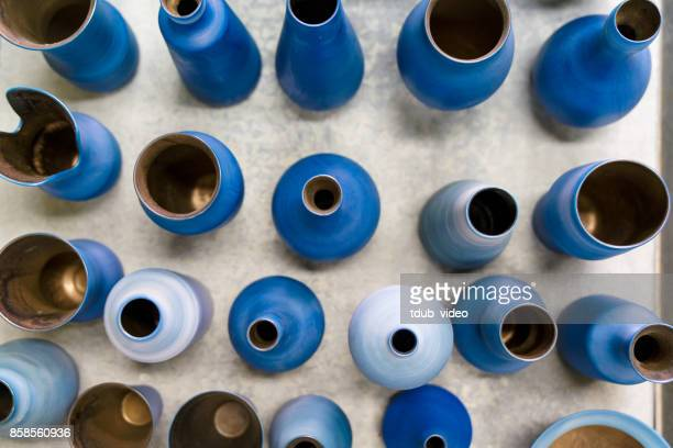 pottery at okinawa - tdub_video stock pictures, royalty-free photos & images