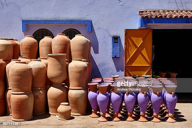 Pottery craftwork in Rabat, Morocco