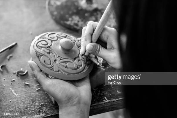 pottery - sarawak state stock pictures, royalty-free photos & images