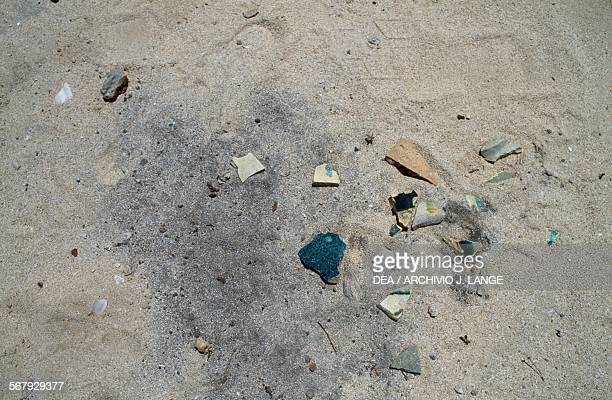 Pottery remains Jumeirah Archaeological Site United Arab Emirates Islamic civilisation 9th11th century