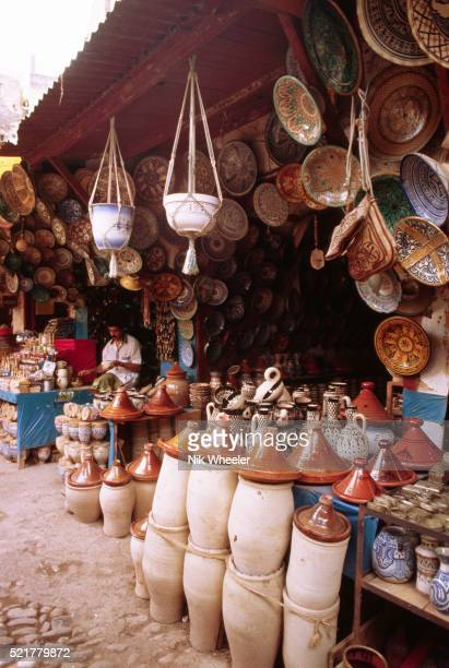 Pottery Stand in a Fes Market