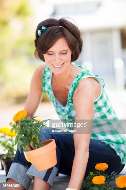 Potting Flowers