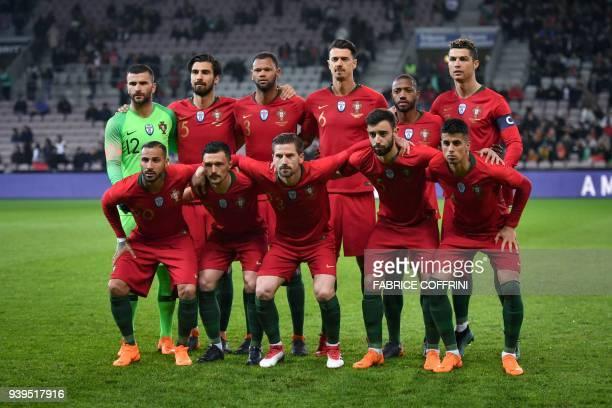 Potugal's team second row goalkeeper Anthony Lopes midfielder Andre Gomes defender Rolando defender Jose Fonte midfielder Manuel Fernandes and...