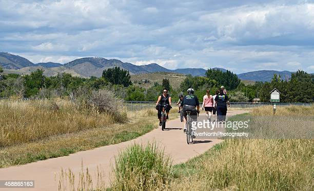 poudre river trail, fort collins - fort collins stock pictures, royalty-free photos & images