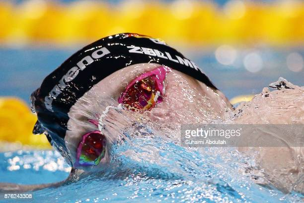 Poul Zellmann of Germany competes in the men's 1500m Freestyle final during the FINA Swimming World Cup at OCBC Aquatic Centre on November 19 2017 in...