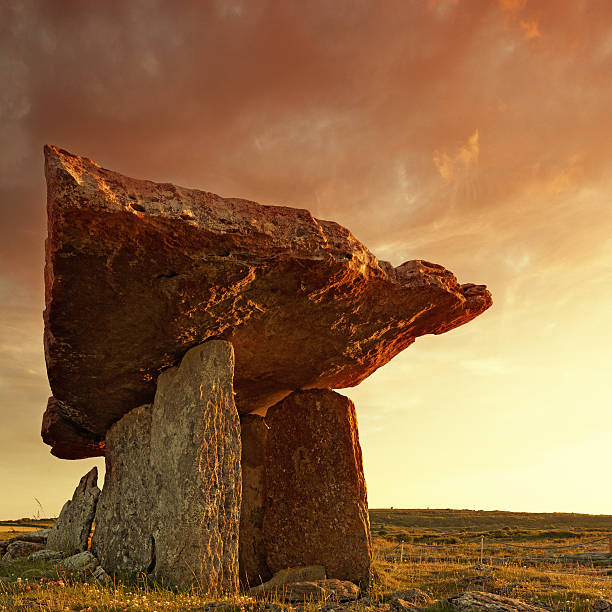 Poulnabrone dolmen at sunset
