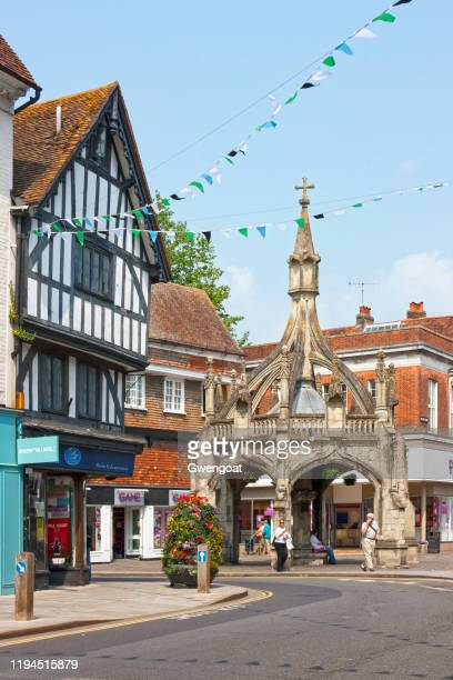 poultry cross in salisbury - gwengoat stock pictures, royalty-free photos & images