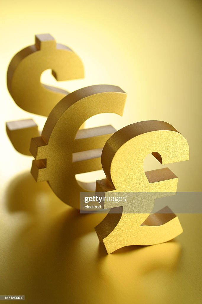 Pound Euro And Dollar Symbols Stock Photo Getty Images