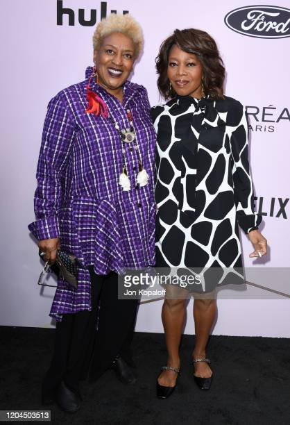 Pounder and Alfre Woodard attend the 13th Annual Essence Black Women In Hollywood Awards Luncheon at the Beverly Wilshire Four Seasons Hotel on...