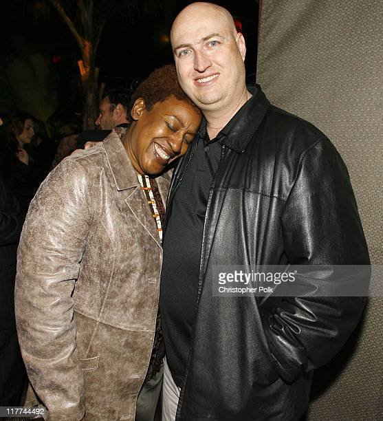 CCH Pounder and Shawn Ryan creator and producer during 'The Shield' Season 6 Premiere and Season 5 DVD Launch Party Inside at Cabana Club in...