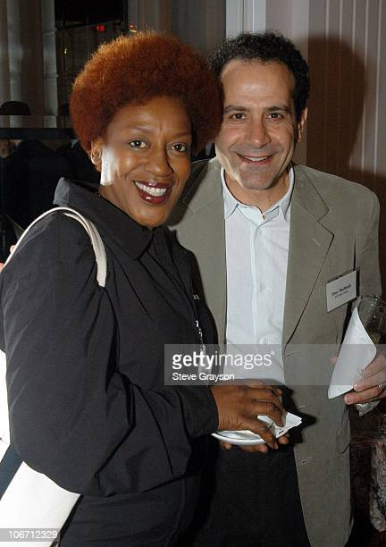 CCH Pounder and Tony Shalhoub during The Hollywood Radio and Television Society's Cable Chiefs Luncheon Featuring Moderator Willow Bay at The Beverly...